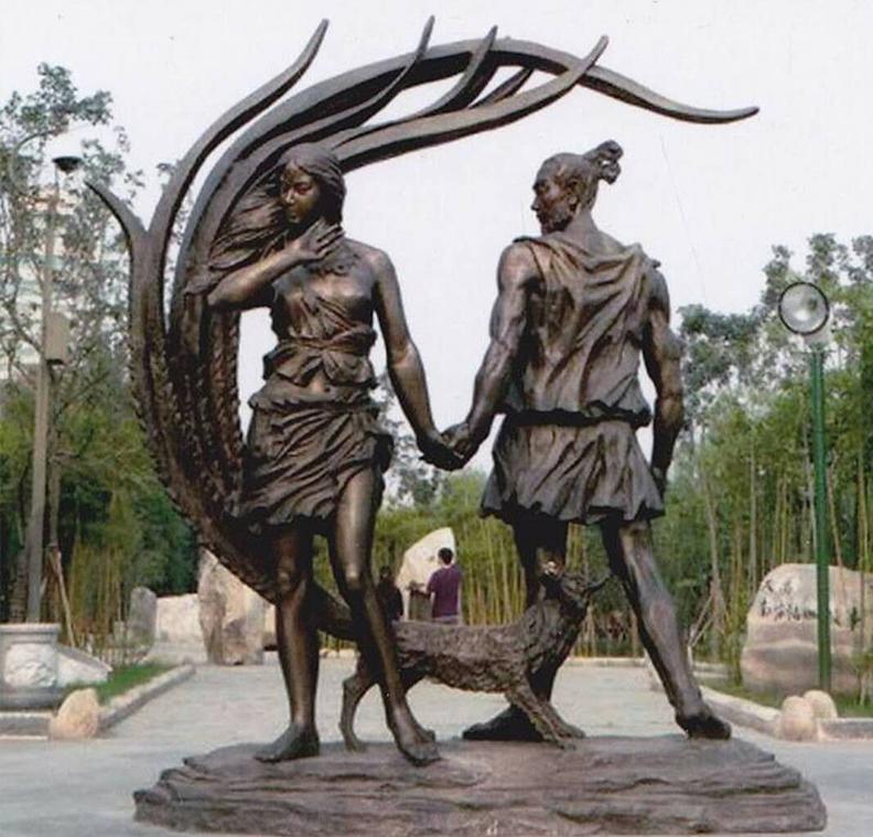 甘肃榆中铜雕塑